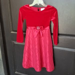GIRLS RED CHRISTMAS HOLIDAY DRESS SZ 8